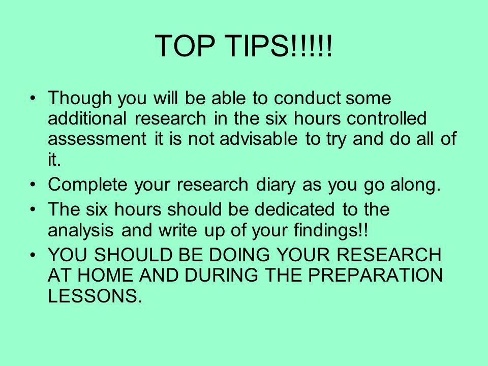 TOP TIPS!!!!.