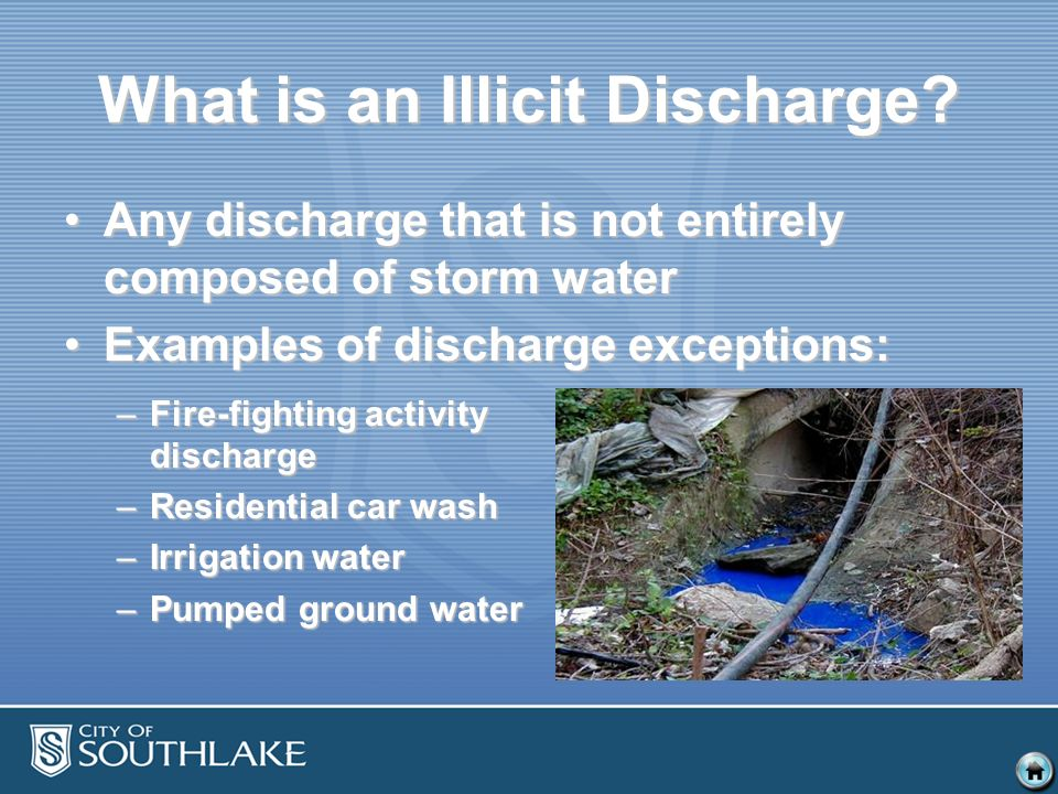 What is an Illicit Discharge.