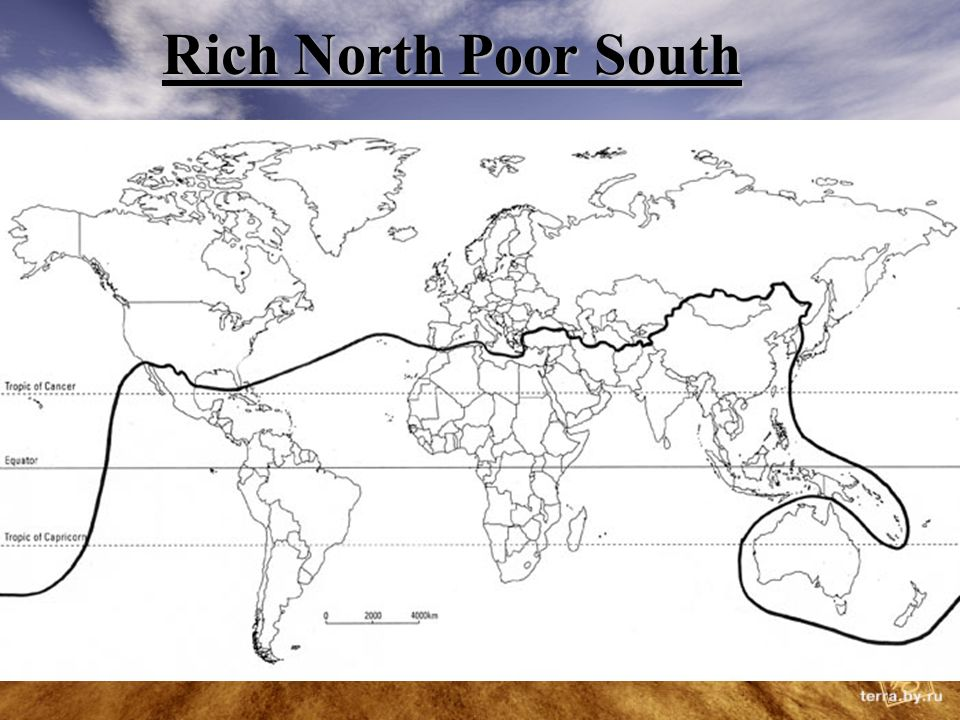 Rich North Poor South The Poor South The Rich North