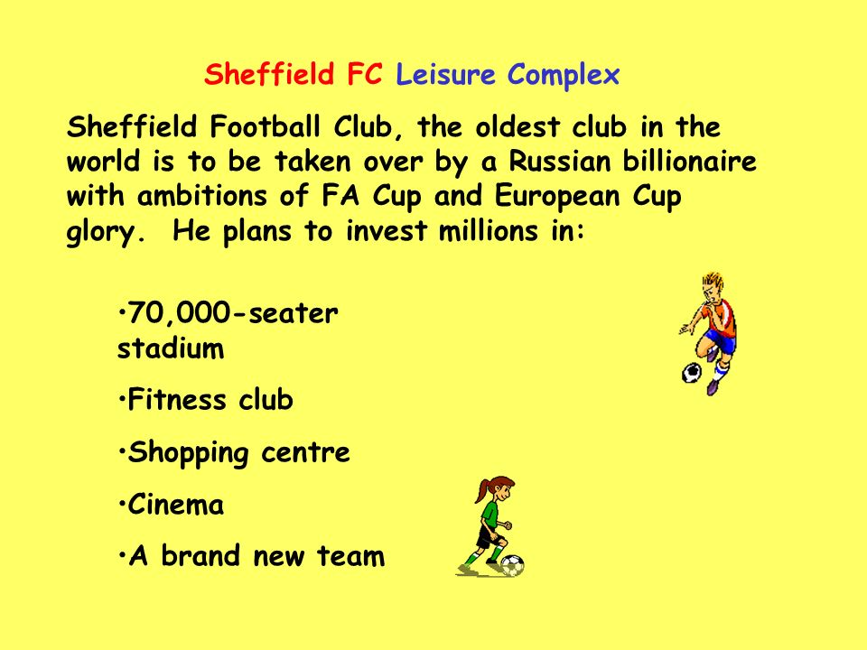 Sheffield FC ~ The New Chelsea .