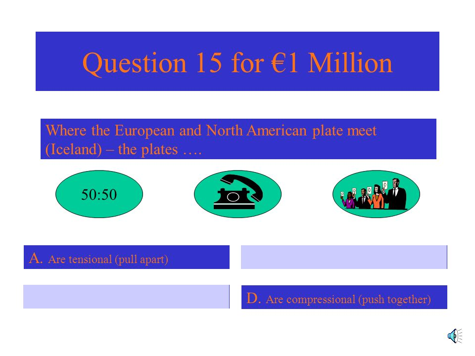 Question 14 for 500,000 What is the name of the instrument used to measure the strength of earthquakes.