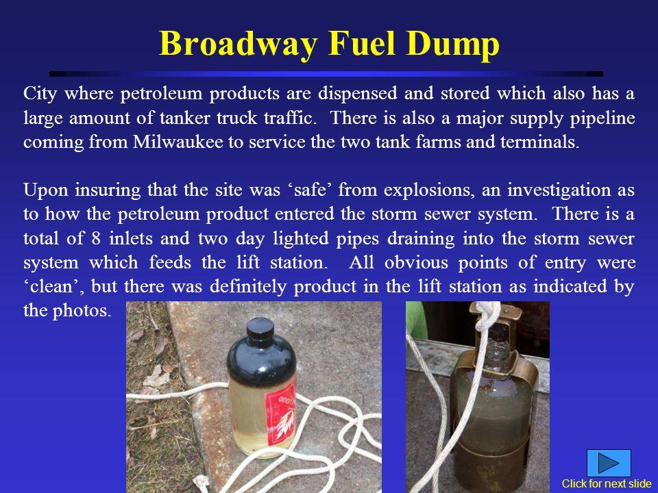 Broadway Fuel Dump PANIC!!!!.