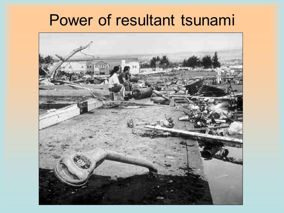 Power of resultant tsunami