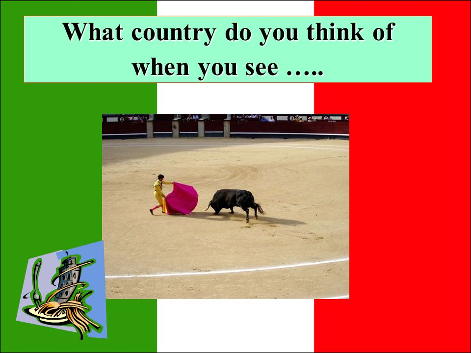 What country do you think of when you see …..
