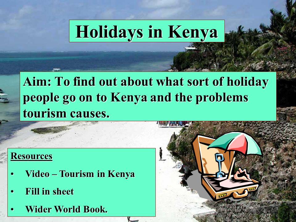 Physical Attractions Mt Kenya (adventure holiday) Beaches and Coral Reefs (beach holiday) Open countryside and Game reserves Lake Turkana / Victoria Tsavo National Park Masai Mara National Park