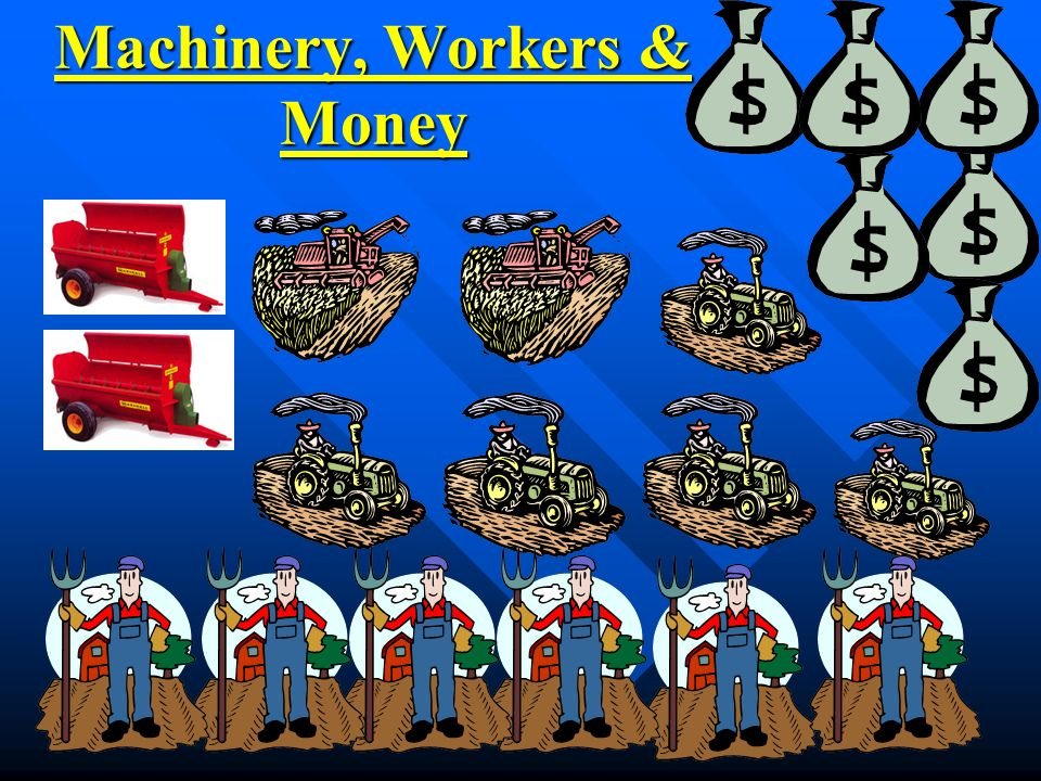 Machinery, Workers & Money