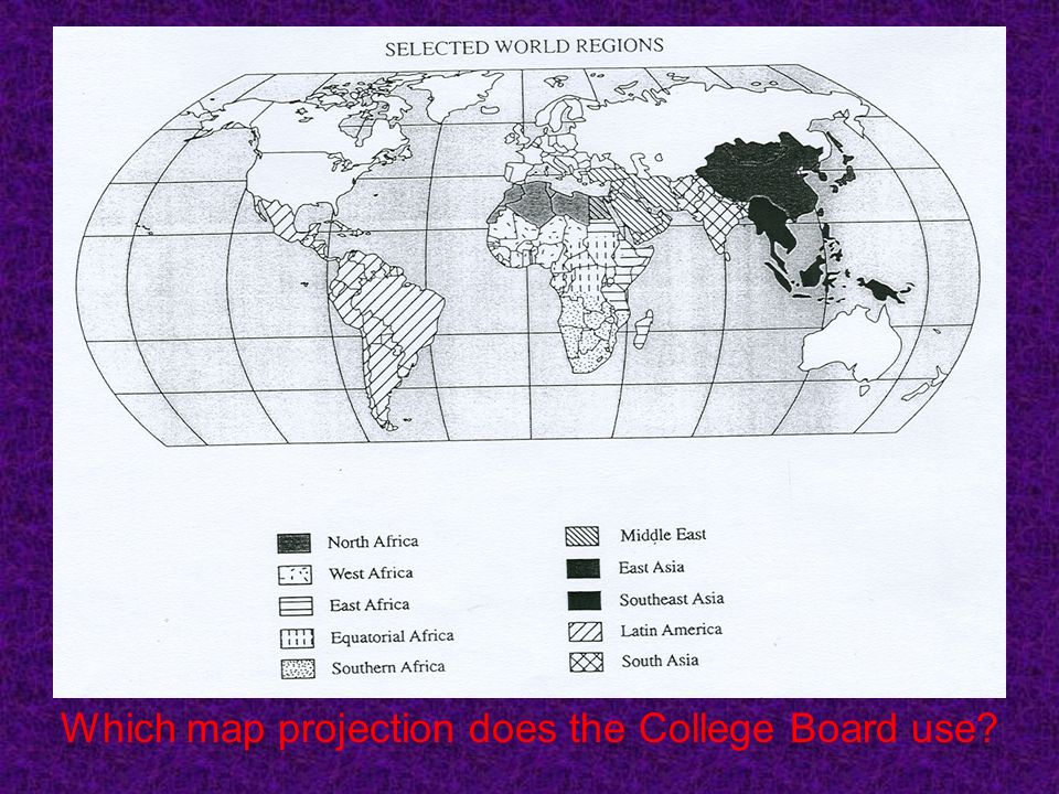 Which map projection does the College Board use?