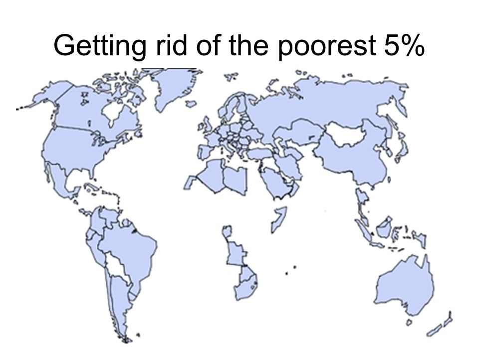 Getting rid of the poorest 5%