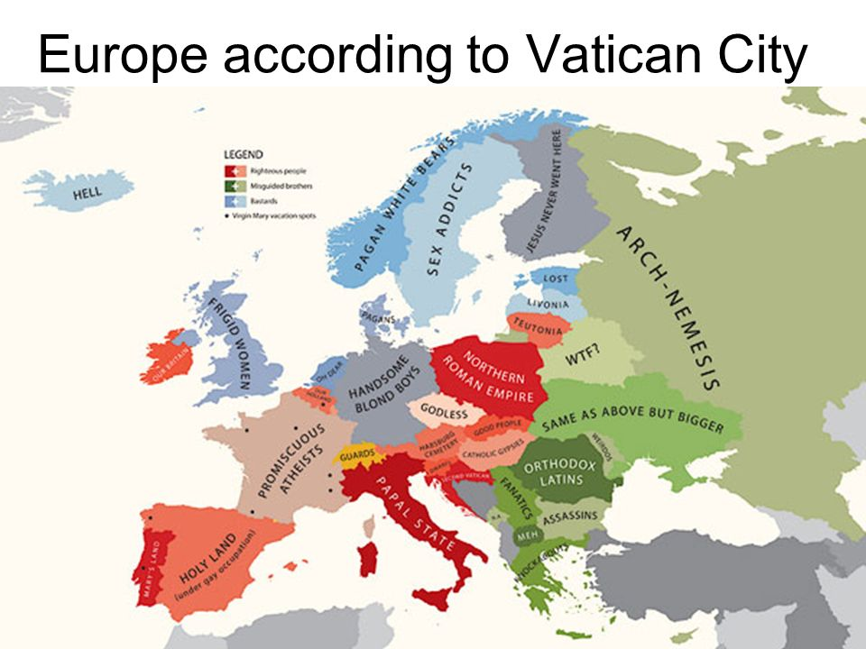 Europe according to Vatican City