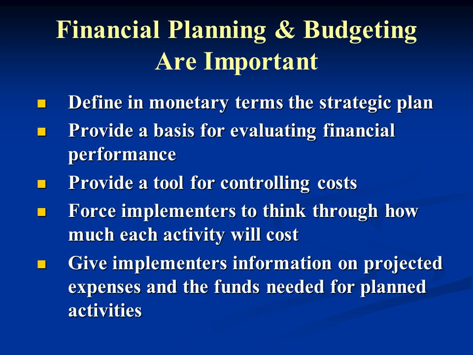 Steps in Budgeting 1.