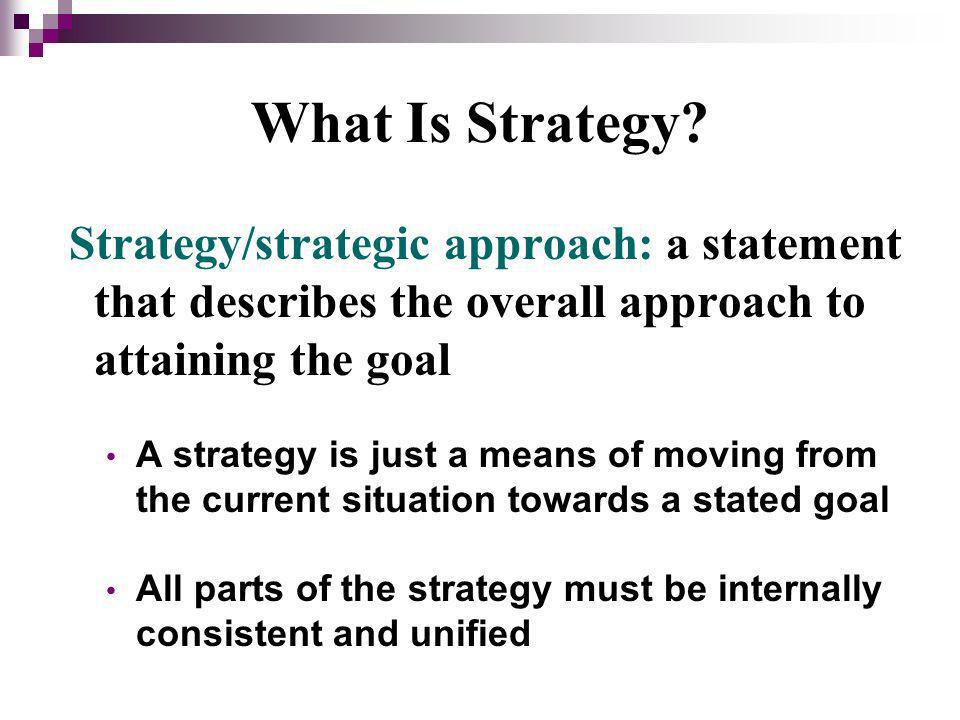 What Is Strategy.
