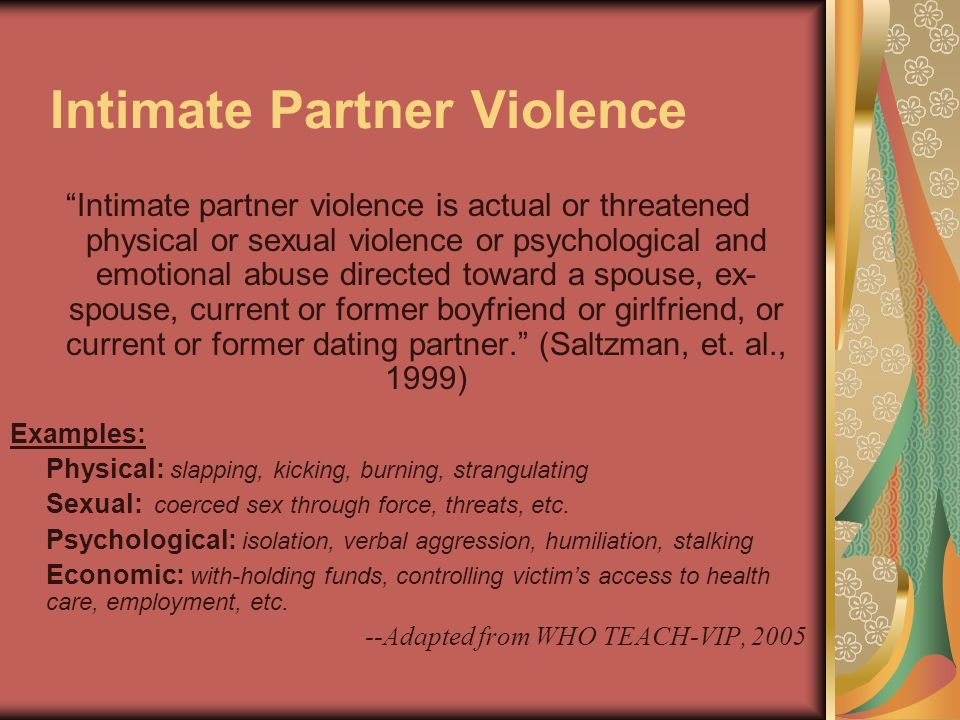 Sexual Coercion The act of forcing (or attempting to force) another individual through violence, threats, verbal insistence, deception, cultural expectations or economic circumstances to engage in sexual behaviour against her/his will...