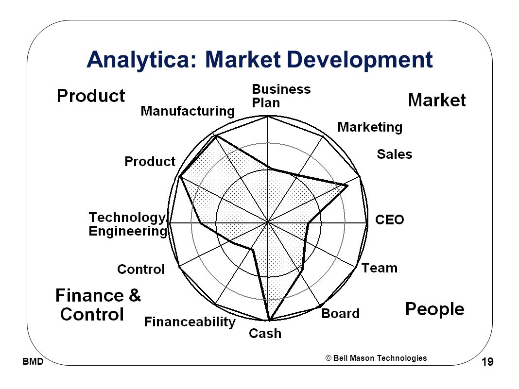 © Bell Mason Technologies BMD 19 Analytica: Market Development