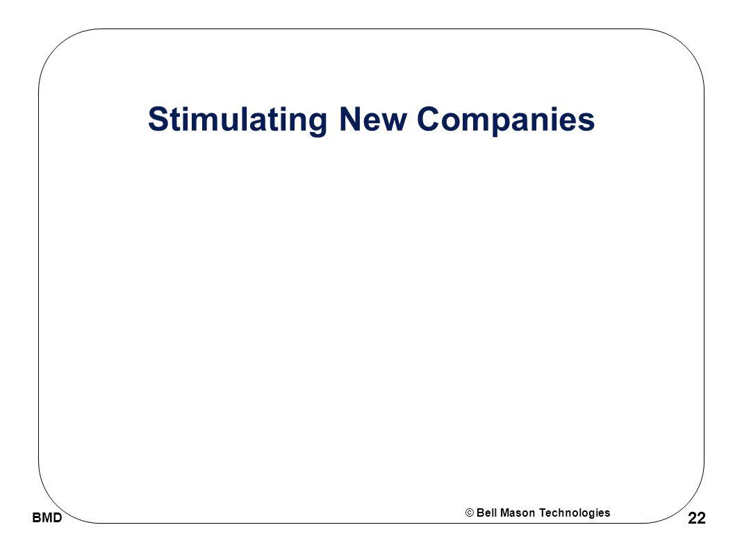 © Bell Mason Technologies BMD 22 Stimulating New Companies