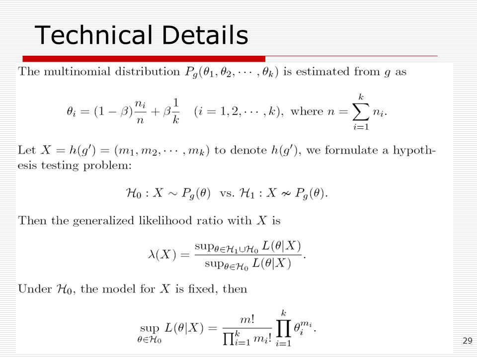 29 Technical Details