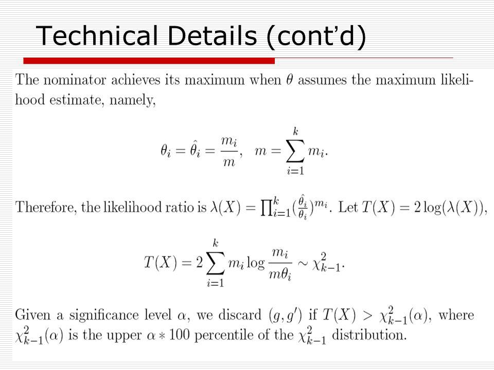 30 Technical Details (cont d)