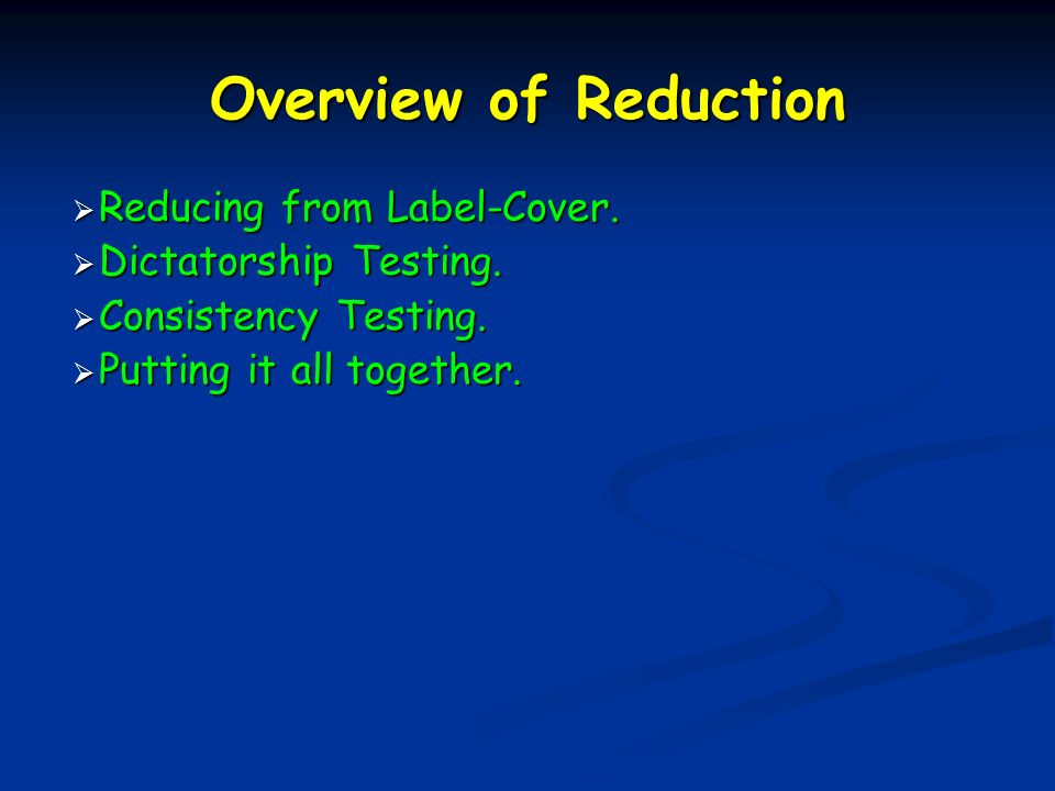 Overview of Reduction Reducing from Label-Cover. Reducing from Label-Cover.