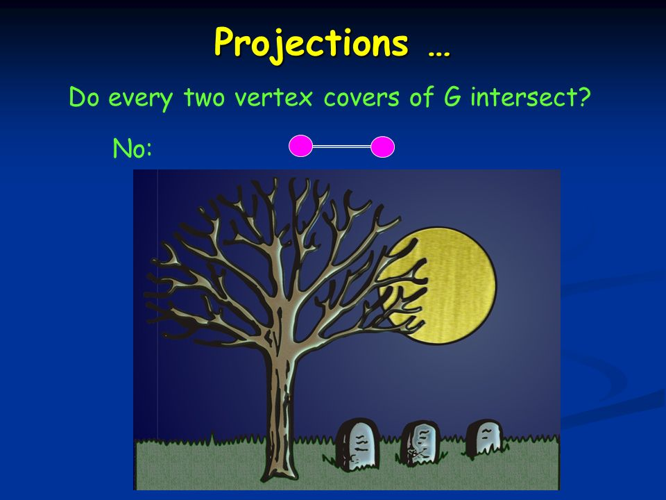 Projections … Do every two vertex covers of G intersect No: