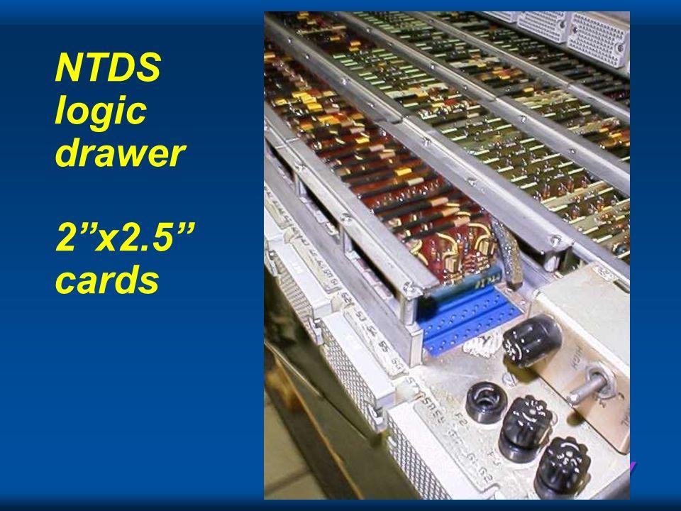 Cray NTDS logic drawer 2x2.5 cards
