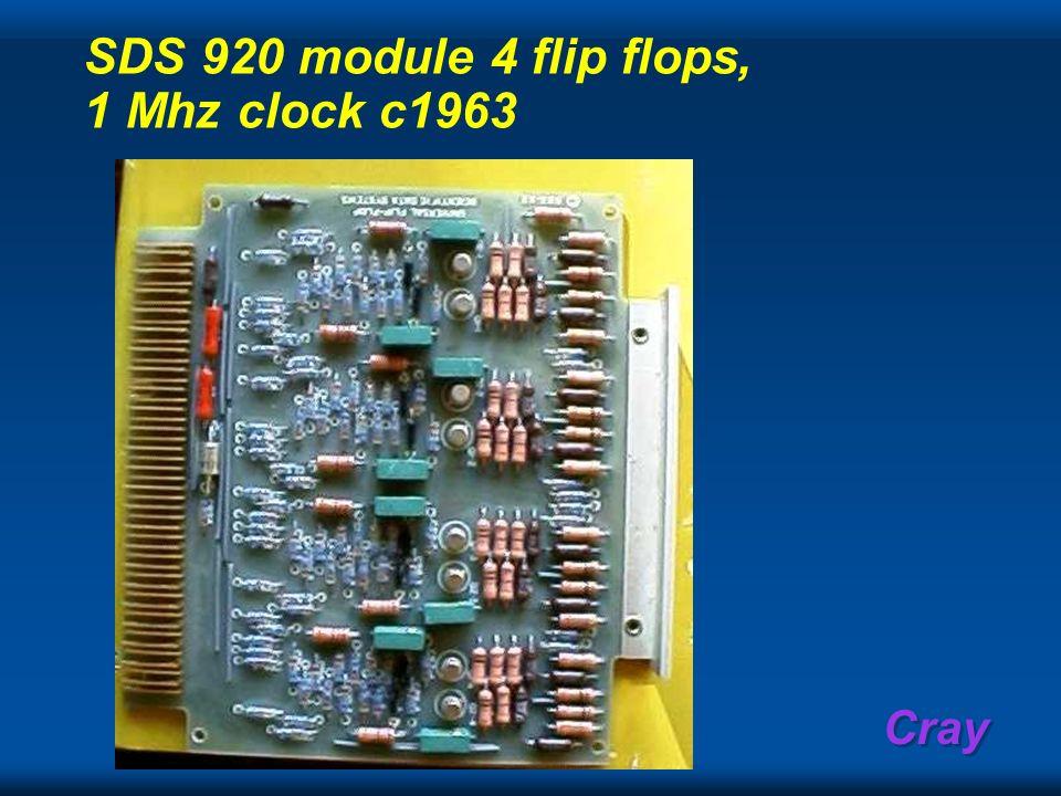 Cray SDS 920 module 4 flip flops, 1 Mhz clock c1963