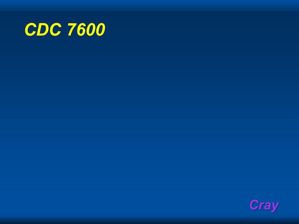 Cray CDC 7600