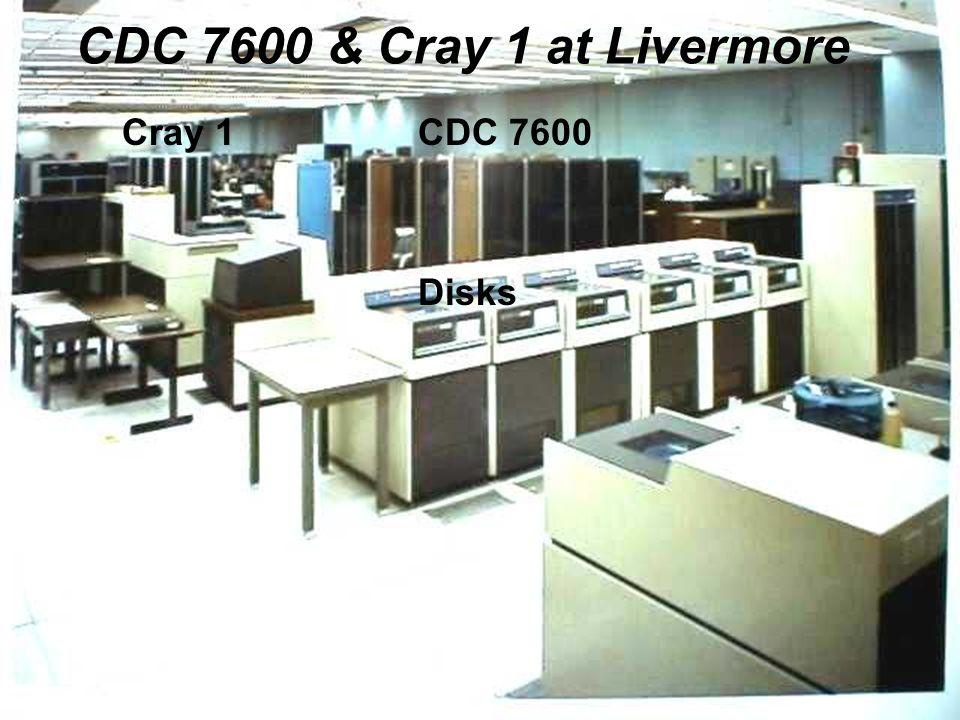 Cray CDC 7600 & Cray 1 at Livermore Cray 1CDC 7600 Disks