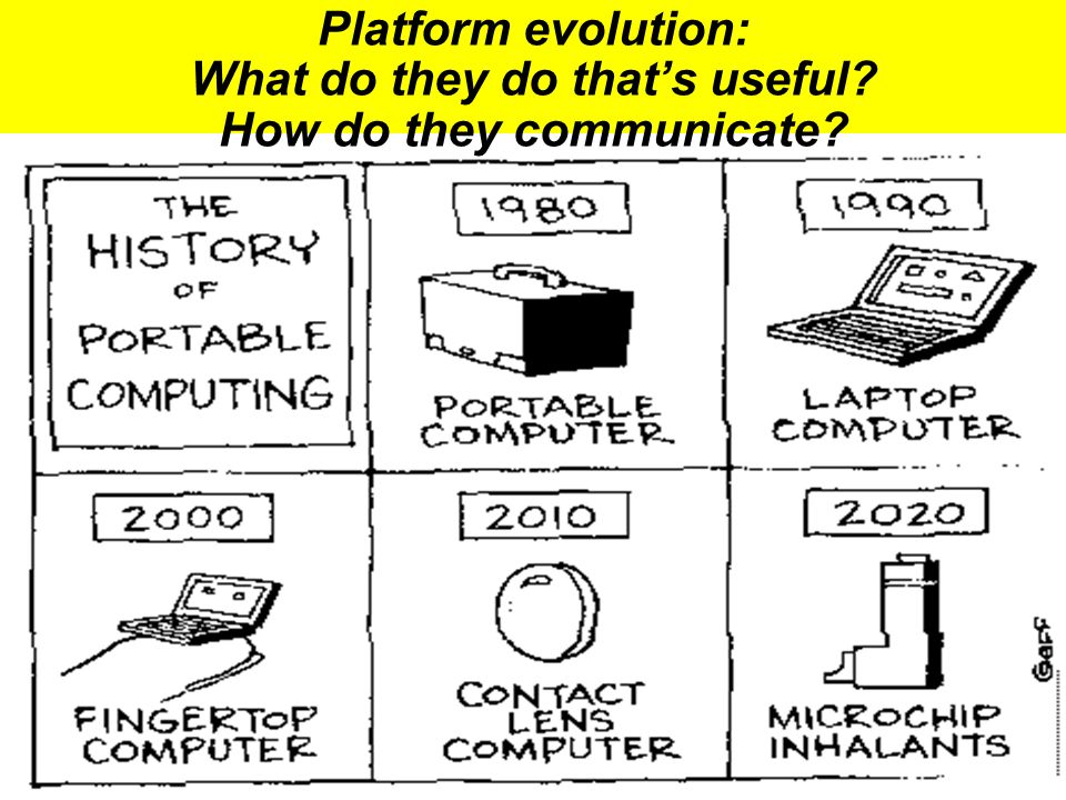 The Tech Platform evolution: What do they do thats useful? How do they communicate?