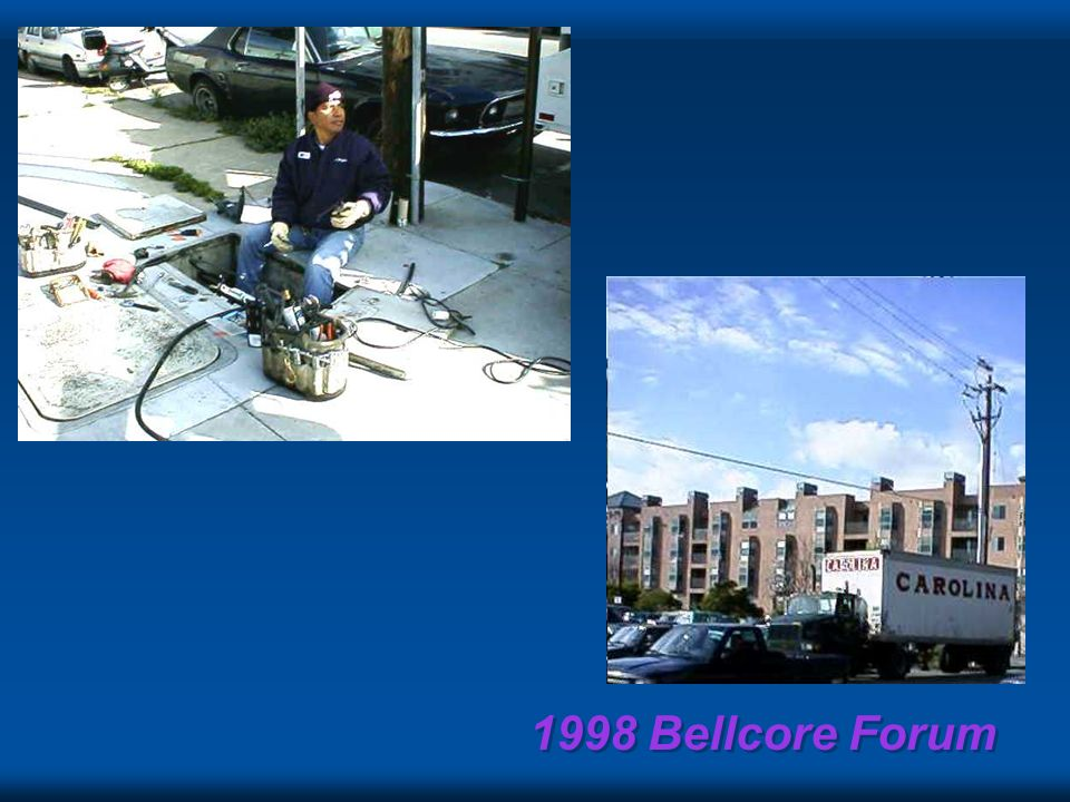 1998 Bellcore Forum Why computer guys hate phone guys 0.Ads say someday you will. Just do it! 1.All they give us is POTS to IP on. 2.Its not the price