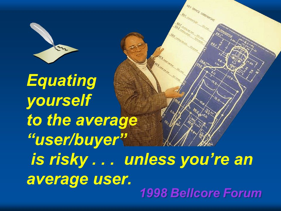 1998 Bellcore Forum There is no reason anyone would want a computer in their home. Ken Olsen President, Chairman and founder of Digital, 1977
