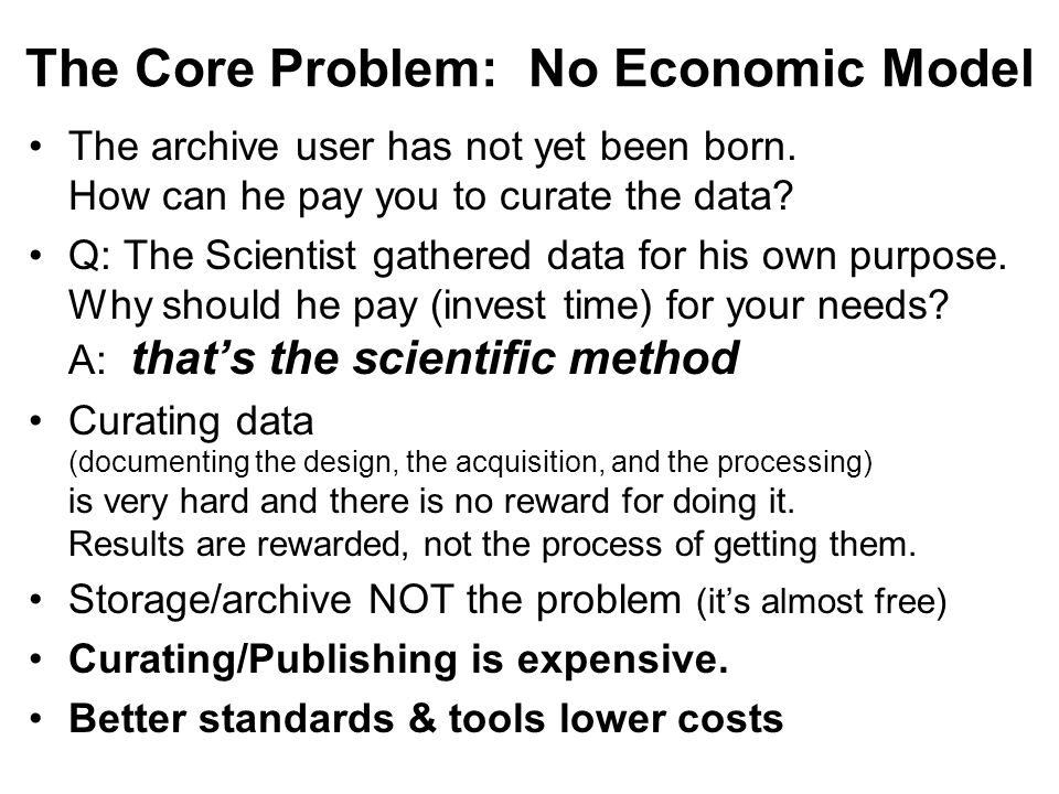 The Core Problem: No Economic Model The archive user has not yet been born.
