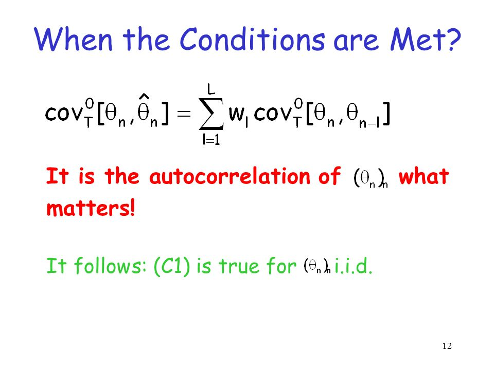 11 (F1) is true for SQRT and PFTK- simplified (F1) is almost true for PFTK-standard If f(1/x) deviates from convexity by the ratio r, and (C1) holds,