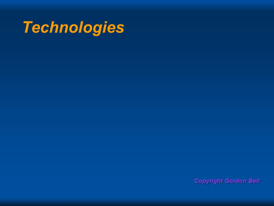 Copyright Gordon Bell Technologies