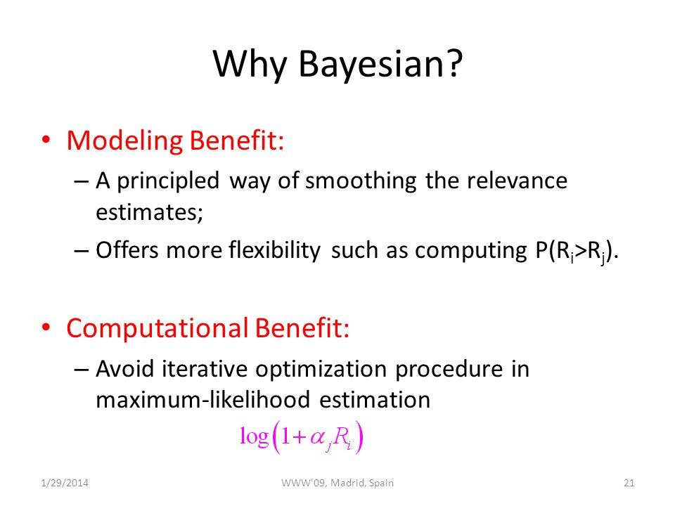 Why Bayesian.