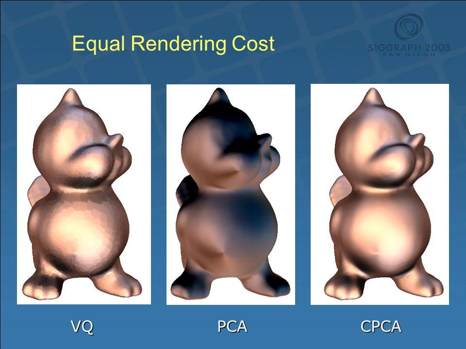 Equal Rendering Cost VQPCACPCA