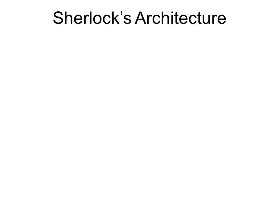 Sherlocks Contributions Passively infers dependencies from logs Builds a unified dependency graph incorporating network, server and application dependencies Diagnoses user problems in the enterprise Deployed in a part of the Microsoft Enterprise