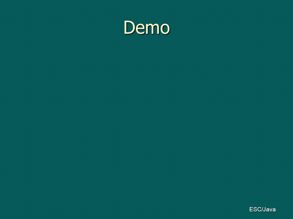 ESC/Java Demo