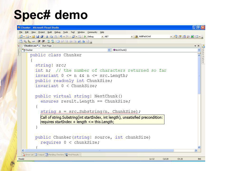 Spec# demo