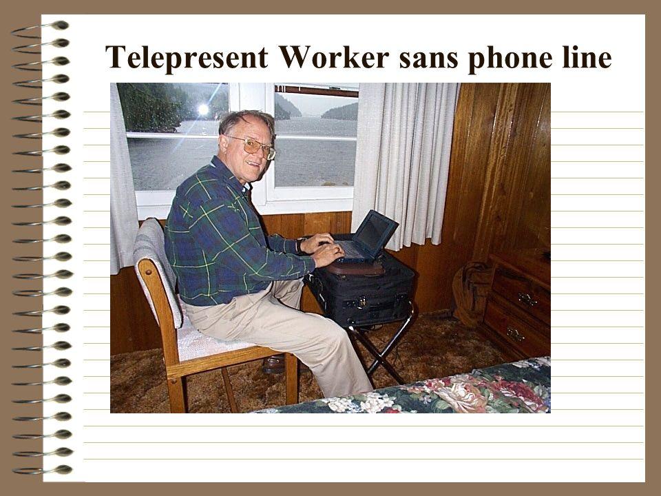 Telepresent Worker sans phone line