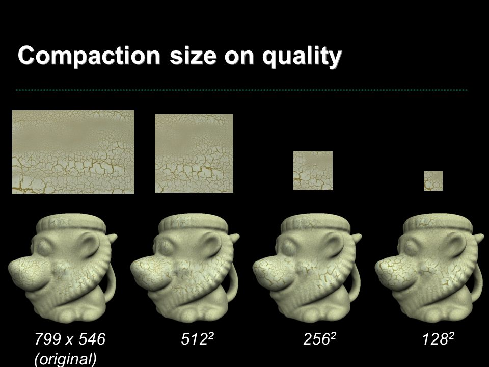 Compaction size on quality 799 x 546 (original) 512 2 256 2 128 2