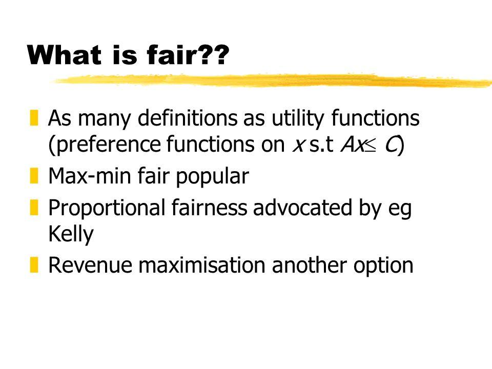 What is fair .