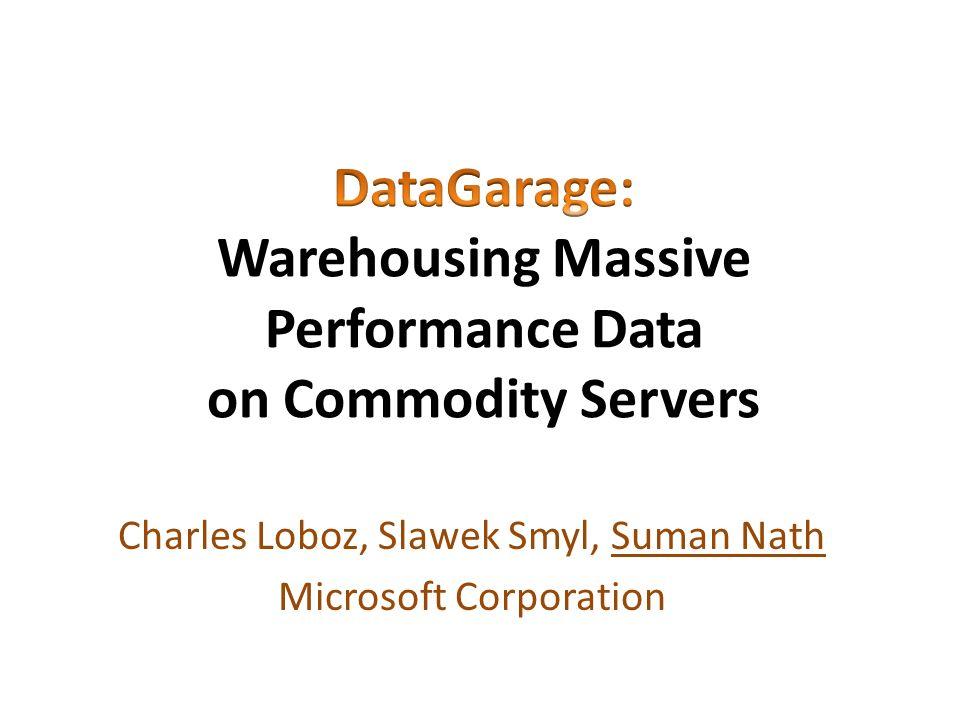 Charles Loboz, Slawek Smyl, Suman Nath Microsoft Corporation