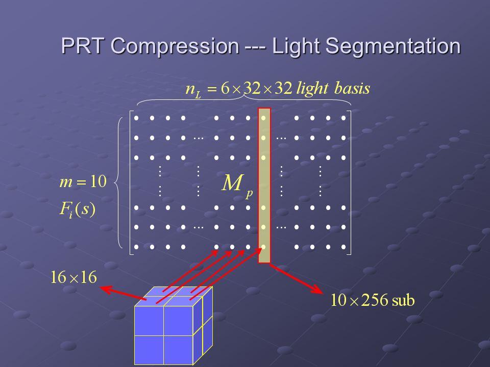 PRT Compression --- Light Segmentation