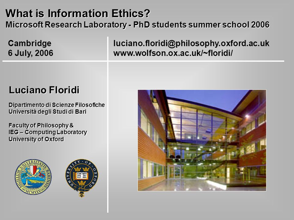 What is Information Ethics.