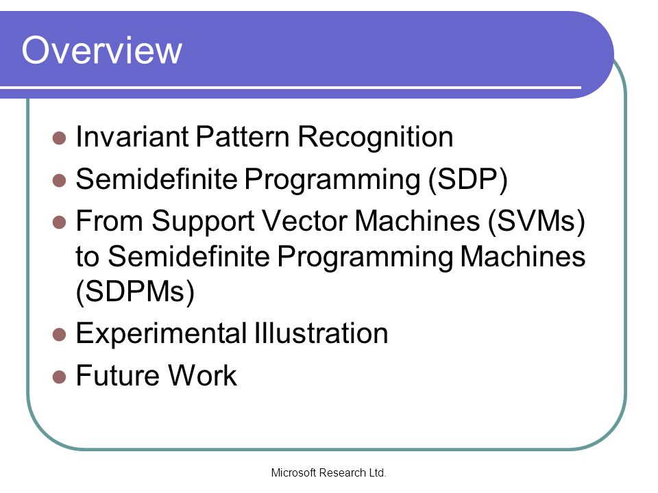 Microsoft Research Ltd. Results: Curse of Dimensionality 1 parameter 2 parameters