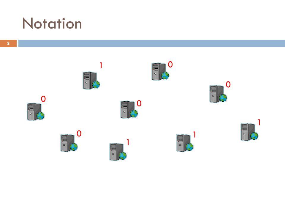 Ternary Protocol - Dynamics U = number of nodes in state 0 V = number of nodes in state 1 N = total number of nodes 19 (U,V) Markov process: