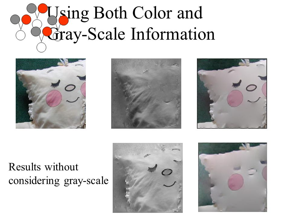 Using Both Color and Gray-Scale Information Results without considering gray-scale