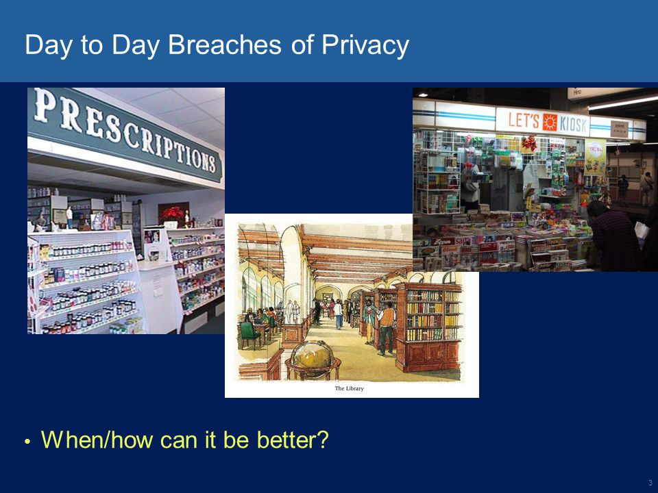 3 Day to Day Breaches of Privacy When/how can it be better