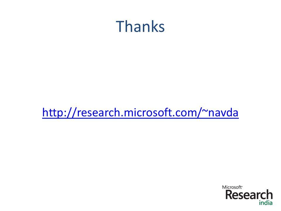 Thanks http://research.microsoft.com/~navda 18