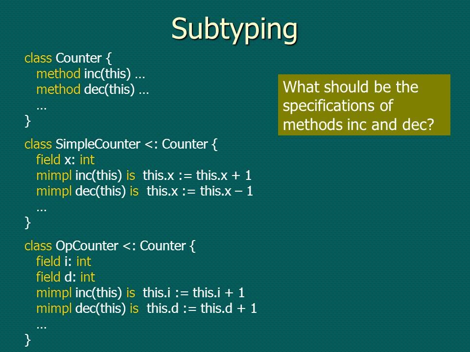 Modular soundness Well-formed(Module) /\ Verif(Method, Module) ==> Verif(Method, Program) Well-formed(Module) /\ Verif(Method, Module) ==> Verif(Method, Program)
