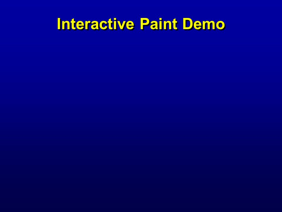 Interactive Paint Demo